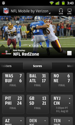 Screenshots from NFL Mobile for Android