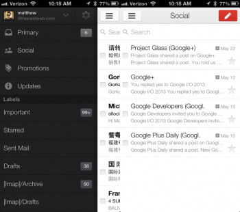 Gmail update hits iOS with new Inbox and notifications