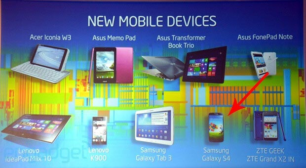Samsung Galaxy S4 listed in an Intel mobile chips slide? Mystery resolved