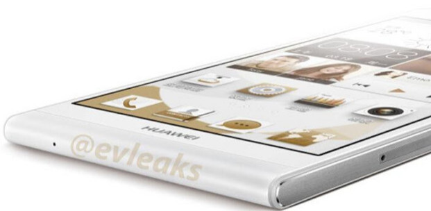 Leaked shot by evleaks reveals how thin the Huawei Ascend P6's profile really is - Huawei Ascend P6 gets benchmarked