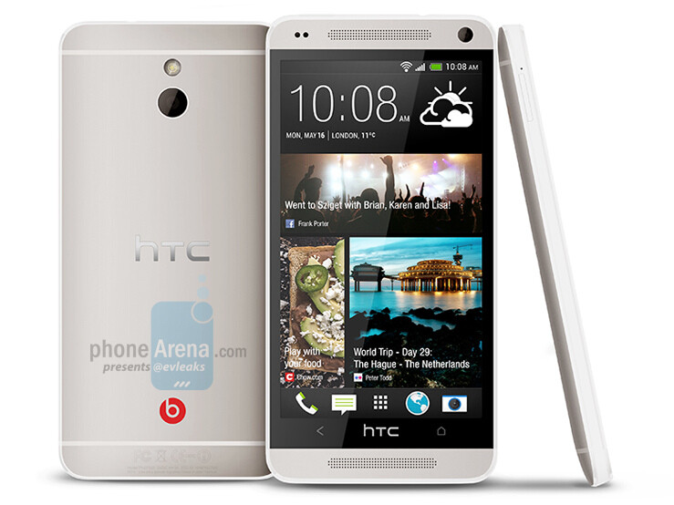 Leaked press photo of the HTC M4 - HTC One mini photos appear, 720p screen and Ultrapixel camera in tow