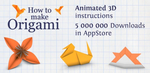 How to Make Origami - Animated - Android, iOS - Free