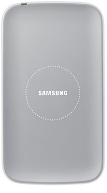 You can now wirelessly charge your Samsung Galaxy S4 using the special back cover (L) and the wireless charging pad - Samsung Galaxy S4 wireless charging cover and pad ready for purchase