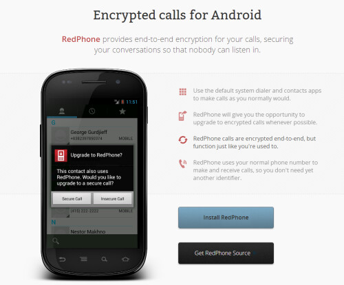 RedPhone and TextSecure