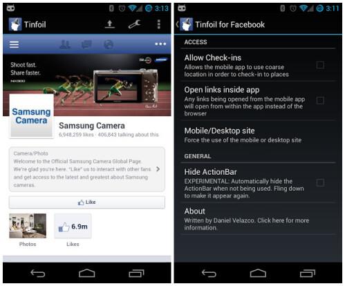 Tinfoil for Facebook