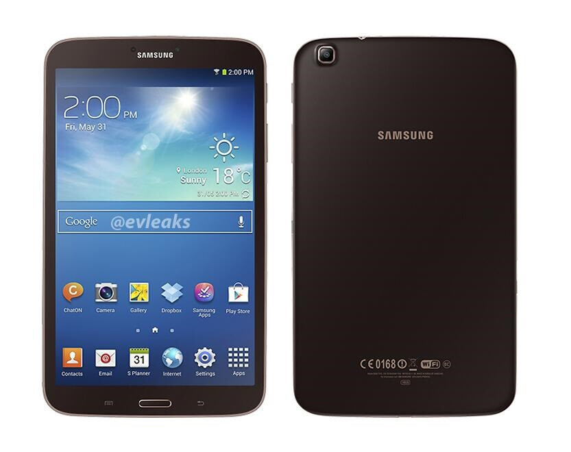 Samsung Galaxy Tab 3 8-inch makes an appearance in golden-brown