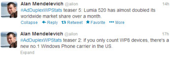 Tweets from Alan Mendelevich reveal new information about Windows Phone 8