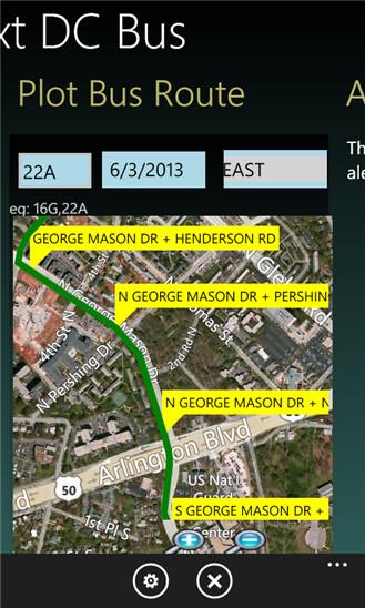 Screenshots from Next DC Bus