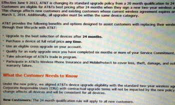 AT&T will stop allowing customers to update their phones before 24 months