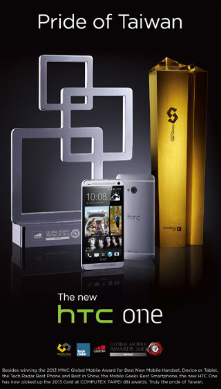 """HTC One grabs """"Best Device"""" award at Computex 2013"""