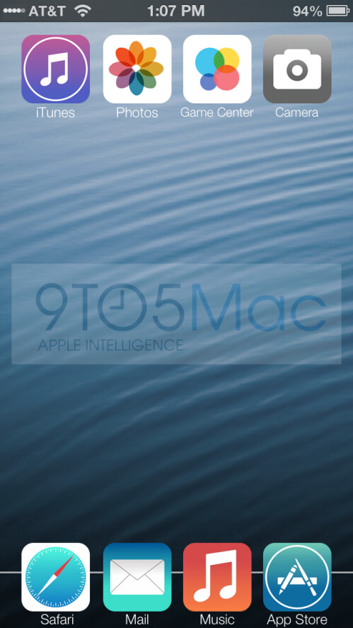 Purported new iOS 7 design leaks ahead of WWDC