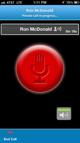 Screenshots from AT&T's enhanced PTT for the Apple iPhone - AT&T offers Push-to-Talk app for the Apple iPhone