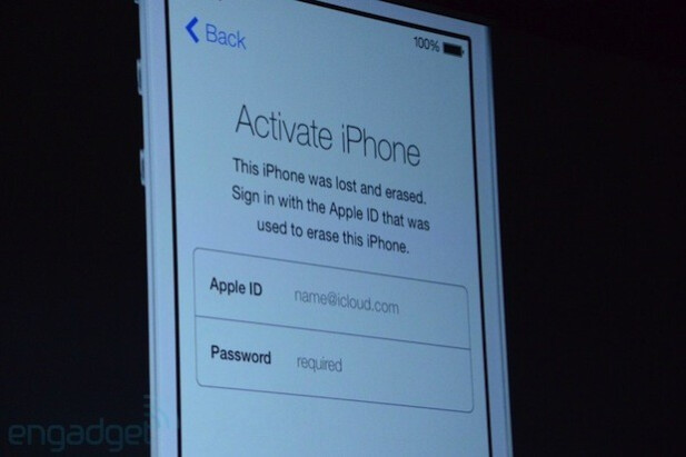 Apple introduces its new Activation Lock at WWDC - Apple shows off Activation Lock for iOS 7
