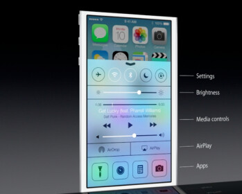 iOS 7 Control Center brings quick actions to your fingertip