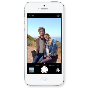 The iOS 7 camera interface