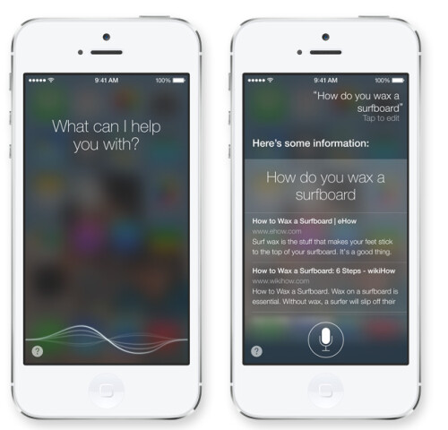Siri comes with a more humane voice