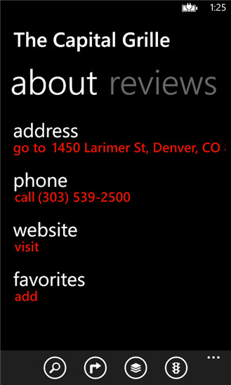 MapQuest for Windows Phone 8