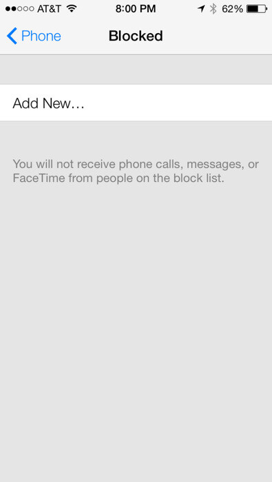 Phone number blocking is coming with iOS 7 - iOS 7 to allow blocking of calls from specific phone numbers