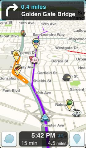 Screenshots from Waze - It's official! Google buys Waze
