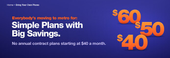 Bring your own GSM Android or Windows Phone device, or certain Apple iPhone model, to MetroPCS starting today