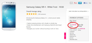 Save $50 on the Samsung Galaxy S4 at T-Mobile