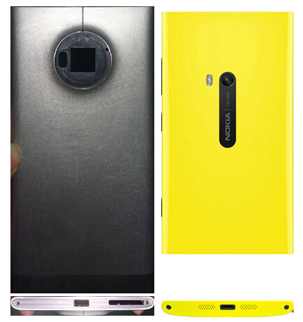 A chassis comparison between the alleged Nokia Phablet and the Lumia 920