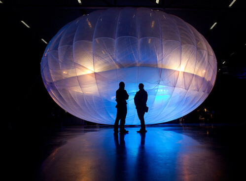 This balloon is an internet hub