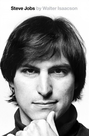 The new cover for the paperback version of the Steve Jobs biography (L), compared with the cover from the hardcover edition