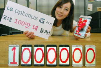 The LG Optimus G Pro has sold 1 million units in Korea