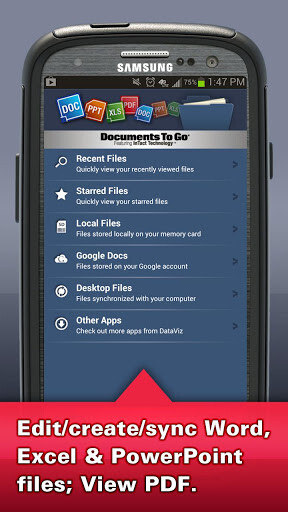 Documents to Go for Android