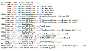 Nokia developer pages now reference quad-core Snapdragon 800 with Adreno 330 GPU