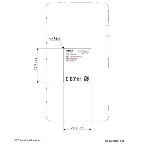 Nokia RM-941 images from the FCC