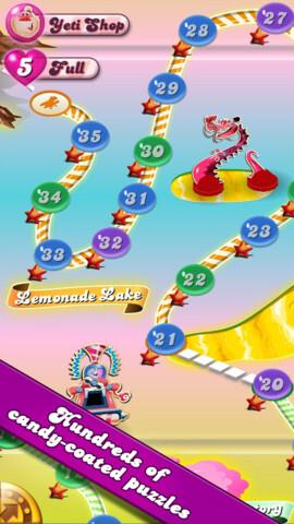Screenshots from Candy Crunch Saga