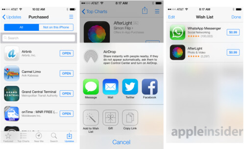 New features for the Apple App Store in iOS 7