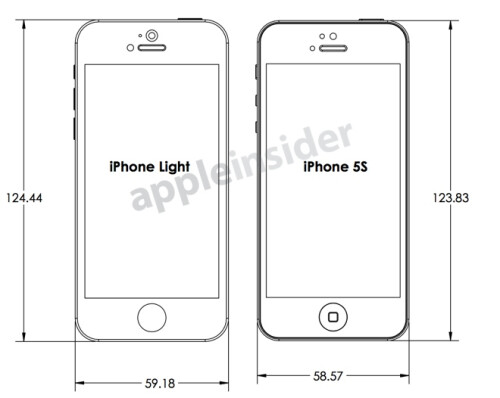 Apple affordable 'iPhone Light' and 'iPhone 5S' drawings leak out, trustworthy enough for case m