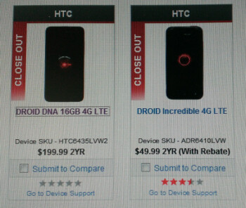 The HTC One won't carry the DROID brand, but Verizon still wants to clear out HTC DROID stock