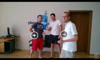 Removing a moving object from a photo using Nokia Smart Cam