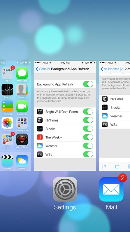 iOS background updates get Settings listing, but probably won't help Google Now
