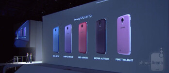 Samsung presents five new color options for the Galaxy S4