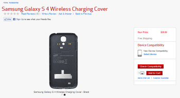 Wirelessly charge your Verizon branded Samsung Galaxy S4