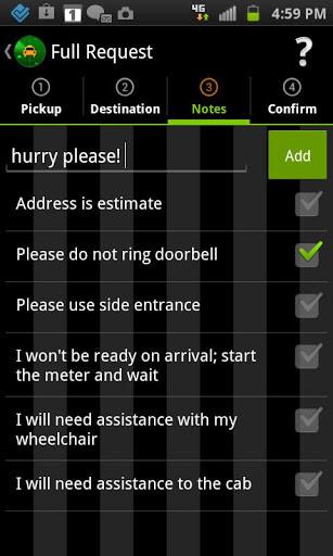 NexTaxi app