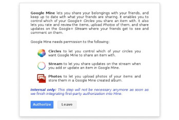 Google Mine may look to bring real world sharing to G+ users