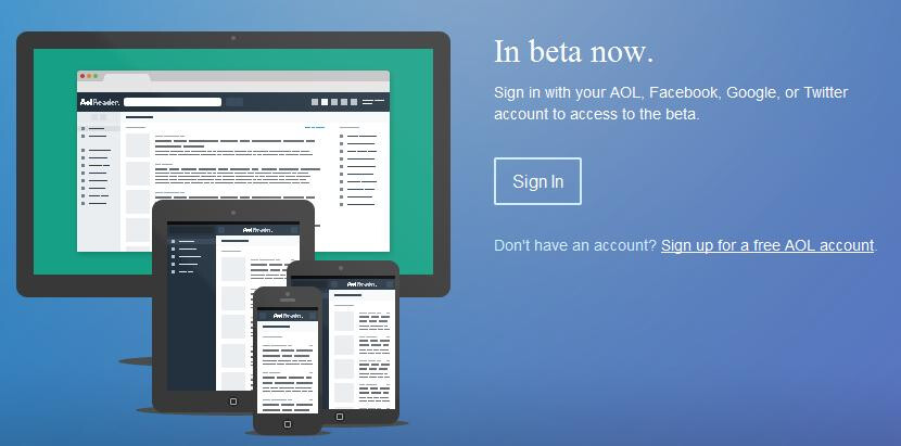 AOL Reader will accept requests for invitations starting on Monday - AOL Reader to launch beta on Monday