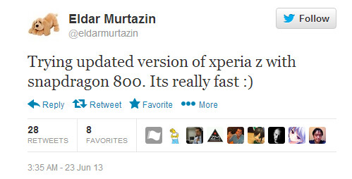 Eldar Murtazin tweets about an updated Sony Xperia Z - Sony to shoehorn Qualcomm Snapdragon 800 inside Sony Xperia Z refresh?