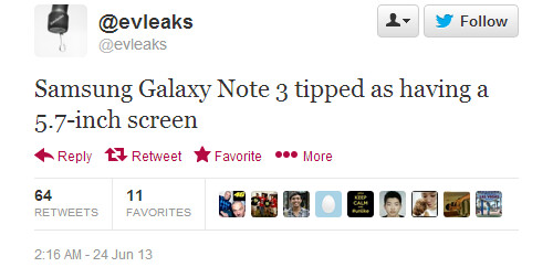 """Galaxy Note 3 tipped to arrive with a 5.7"""" display this time"""