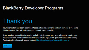 BlackBerry is ready to send out $4 million in payments to Android developers
