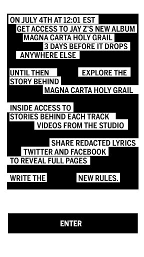 Download the Magna Carta app if you want a shot at Jay-Z's new album for free - Samsung launches MagnaCarta app for Jay-Z's album