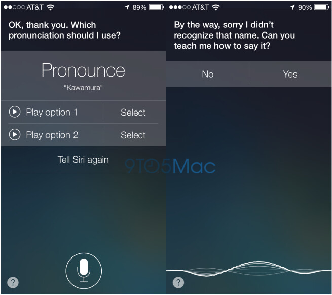 Siri now tries to learn tricky names - Siri learns how to pronounce names correctly in iOS 7
