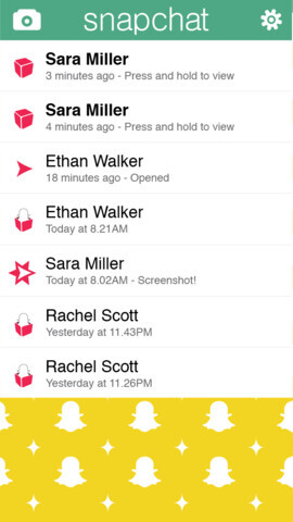 Screenshots from Snapchat - Psss...iOS 7 lets users take screenshots of Snapchat messages without squealing