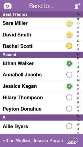 Screenshots from Snapchat